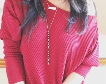 Gold Y Necklace, Simple Y Chain Necklace, Long Necklace, Chain Lariat Necklace, Y Shape Lariat Necklace, Gold Chain Necklace, Dainty Jewelry