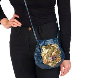1970's Copa Collection Navy Blue Cross - Body