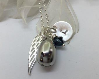 Cremation Urn Jewelry/ Personalized urn necklace/Angel Wing Urn/Human Ashes Jewelry/Memorial Jewelry/Ashes Necklace/Pet Urn/Ashes Keepsake