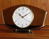 Metamec Clock - Recycled Vintage Clock - Mantel Shelf Battery Clock