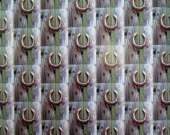 just in case good luck horseshoe gift wrap wrapping paper drawer liner wedding gift wrap going away wrap small poster book cover