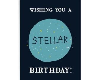"""Birthday card """"Stellar"""""""