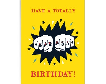 "Birthday card ""Badass"""