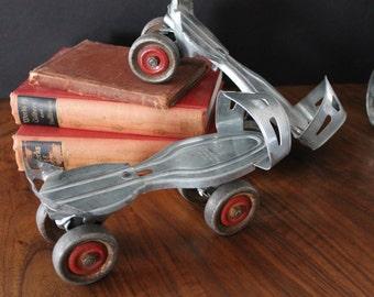 Vintage Metal Roller Skates, No. 30, Slip-on, adjustable, one size fits most