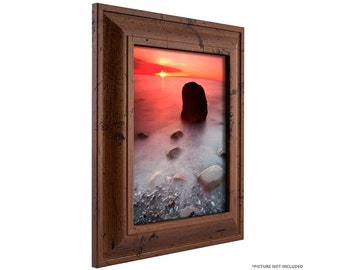 Craig Frames, 11x14 Inch Distressed Walnut Brown Picture Frame, 2-Inch Contemporary Upscale (760041114)