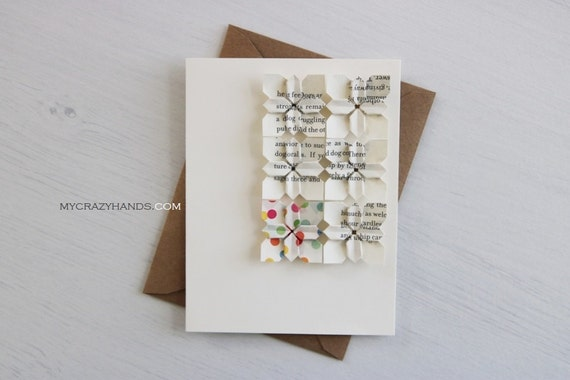 origami card || anniversary card || wedding card || | origami flower greeting card ||| A2 card with envelope -6 multi petals