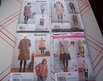 Simplicity 1080/8230/8186/8298..Misses Dress or Tunic..Jumpers..Jackets..Dottie Angel Designs..New for 2015-2017 Patterns..Your Choice..Cute