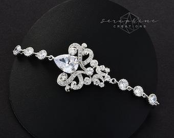 Wedding Bracelet Wedding Jewelry Bridal Bracelet Cubic Zirconia Rhinestones Victorian Wedding Sparkly Bracelet Bridal Jewelry Isolde B39