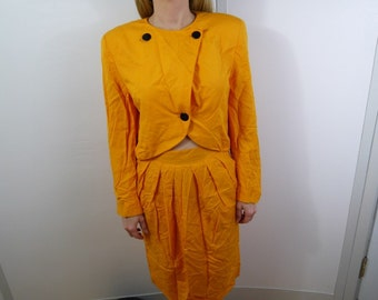Vintage Christian Dior Skirt Suit Size 10 Needs to be Dry cleaned
