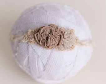 Tie Back neutral newborn ready to ship Photography Prop RTS