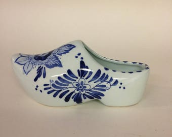 Delft Handpainted Floral Holland Shoe, Delft, Holland