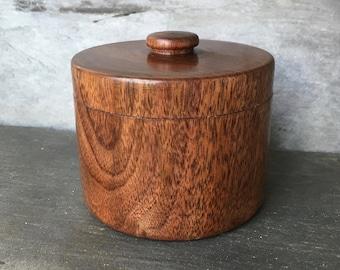Turned Walnut Keepsake Box