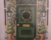New Cross Stitch KIT- Permin of Copenhagen - Green Door  DMC (12-9468)