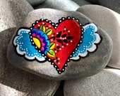 Love is all you need / painted rocks /painted stones / winged hearts / paperweights / heart rocks / love from cape cod / hand painted rocks