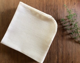 Organic Unpaper Towels, Organic Unbleached Cotton Birdseye Unpaper Towels, Reusable Unpaper Towels, Reusable Paper Towels, SET OF 6