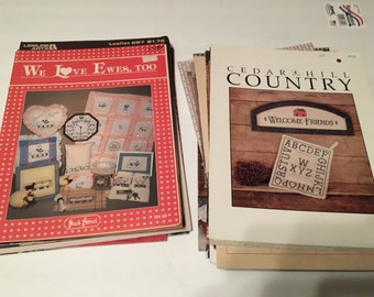 29 cross stitch and quilting magazines