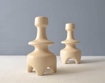 Vintage Israel Ceramic Candle Holders