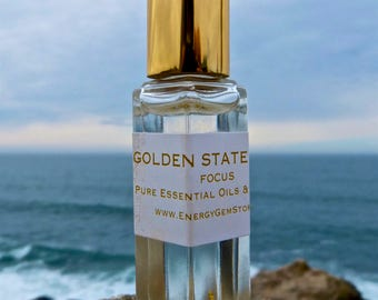 Golden State Tonic. Frankincense Oil with 24k Gold. Boost your Mental Clarity and Concentration. Solar Plexus Chakra.
