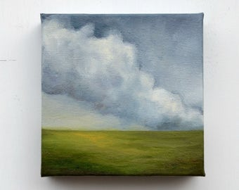 Oil painting, landscape painting, cloud painting, home decor, wall art - Stormscape seventyfour