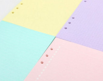 Basic Pastels Planner Insert Planner Refill Writing Paper
