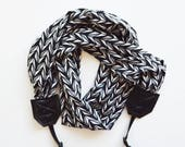Best Photographer Gift 2018 Camera Straps Super Soft Stretch Knit Scarf Style | USA Handmade Ready to Ship | Cross body Style Strap