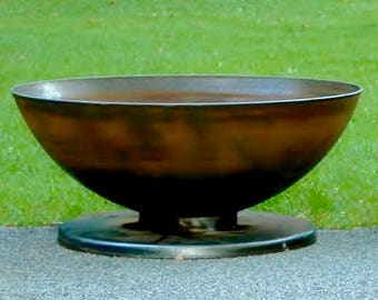 Fire pit 36 inch firepit Dome Pedestal base metal fire pit fire pits fire pit bowl fire bowl fire pit cover custom made fire pit hand made