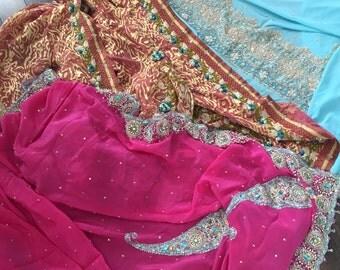 3 Gorgeous Vintage Saris