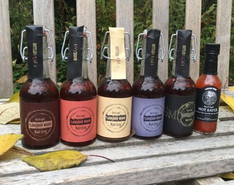 SALE! 5 Flavors of Barrel-aged Maple Syrup PLUS Hot Sauce