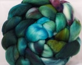 Hand dyed top for spinning -  - (4.8 oz.)polwarth /tussah silk (85/15)