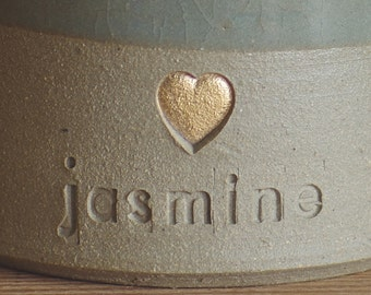 ADD ON. real gold glaze accent. Add real gold /white gold glaze to infilled into a stamp. Urn needs to be purchased also.