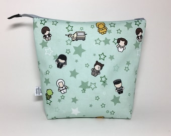 Medium Zipper Top Knitting Crochet Project Bag - Spaceballs