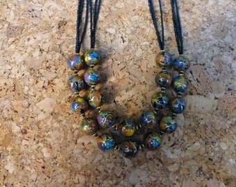 Japanese Foil Bead necklace