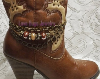 Perfect Paradise Boot Jewelry , Boot Bracelet, Boot Bling, Boot Jewelry, Cowgirl Boot Bling, Boot Band Bracelet