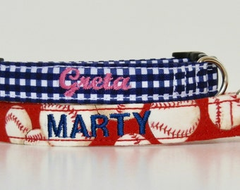 Embroidery ADD-ON Dog Name Phone Number Dog Collar