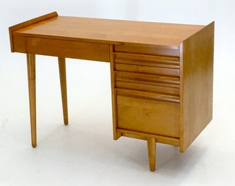 Maple Mid Century Modern Vanity Desk Chair Bench By Modarmada