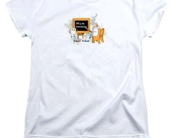 Teacher Marshmallow Women's TShirt - soft tee - 100% cotton - FREE US shipping