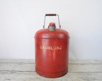Vintage 5 Gallon Gas Can Fuel Can Gasoline