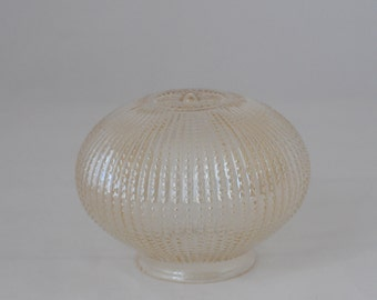 """Vintage Round 6"""" Marigold Beaded Hobnail Glass Globe Ceiling Fixture Shade"""