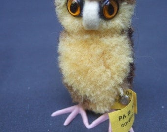 STEIFF Endearing Small Owl Suffed Toy