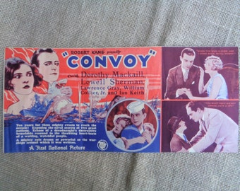 Vintage Movie Flyer Convoy 1927 New Orleans Prytania Theatre