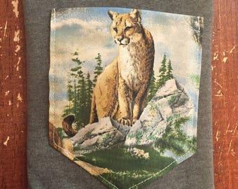 Mountain Lion pocket Shirt S/M/L/XL/2x/3x