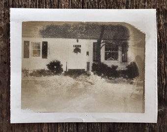 Original Vintage Photograph The Coziest Winter Cottage