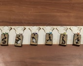 Exotic Wood Wine Charms - Animal Silhouettes for Lynn