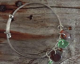 Lake Superior Beach Glass Bracelet