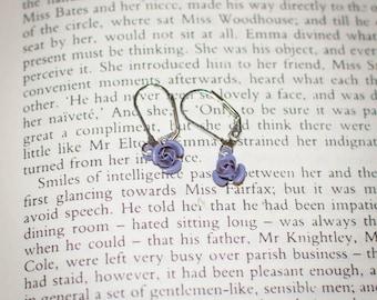 Jane Austen Regency Inspired Rose Earrings: Choose Your Color