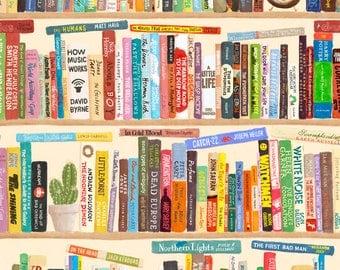 Books - Bookshelf - Extra Large Art Print - Archival inks & paper