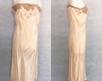 SALE 1920s silk nightgown