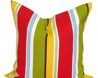 STRIPE PILLOW.16x16 inch.Pillow Cover.Outdoor Pillow Cover.Stripe Pillow Cover. Striped Pillow Cover. Cushion Cover. Toss Pillow. Throw. cm