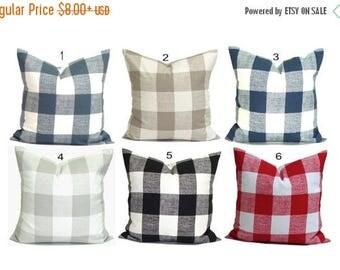 Buffalo Check Pillow Covers, Plaid Pillows. Check Pillow, Couch Pillow, Throw Pillow, Farmhouse Pillow, Pillow Sham.Euro Sham.cm. All Sizes