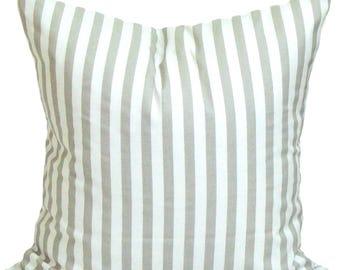 Gray Stripe Euro Pillow Covers, 27x27  Gray Striped Decorative Pillow, Grey Pillow, Cushion, cm,French Country.Farmhouse. Gray Stripe.cm